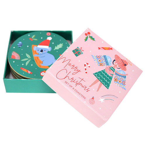 Christmas Angel Drink Coaster Set (8) - Gifti | Gifts they will love