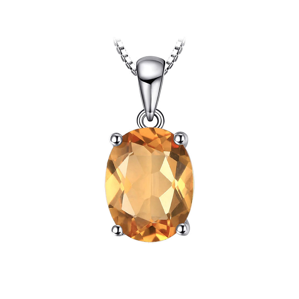 Citrine Oval Cut Pendant & Necklace - Gift Ideas for Her - Gifti | Gifts they will love