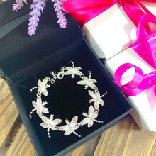 Load image into Gallery viewer, Dragonfly Bracelet - Silver - Gifti | Gifts they will love
