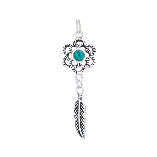 Dream Catcher Turquoise Pendant & Necklace - 925 Silver - Gifti | Gifts they will love
