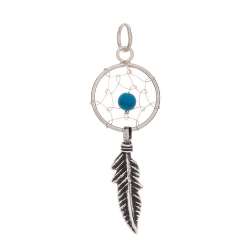 Dream Catcher with Bead Pendant & Necklace - 925 Silver - Gifti | Gifts they will love
