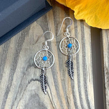 Load image into Gallery viewer, Dream Catcher Earrings with Beads - 925 Silver - Gifti | Gifts they will love