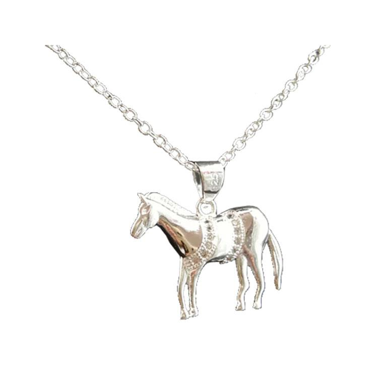 Dressage Horse Pendant & Necklace - 925 Silver - Gifti | Gifts they will love