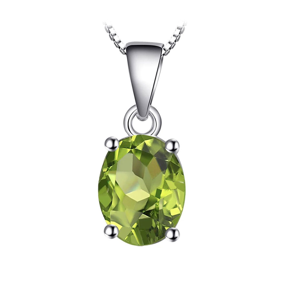 Green Peridot Oval Cut Pendant & Necklace - Gift Ideas for Her - Gifti | Gifts they will love