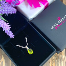 Load image into Gallery viewer, Green Peridot Oval Cut Pendant & Necklace - Gift Ideas for Her - Gifti | Gifts they will love