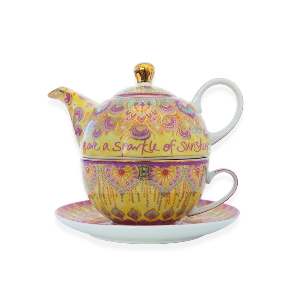 Happiness Tea for One - Tea Pot, Cup & Saucer - Gifti | Gifts they will love