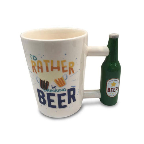 I'd Rather Be Drinking Beer - Beer Handle Mug - Gifti | Gifts they will love