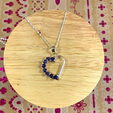 Load image into Gallery viewer, Iolite Heart Pendant and Necklace - 925 Silver - Gifti | Gifts they will love