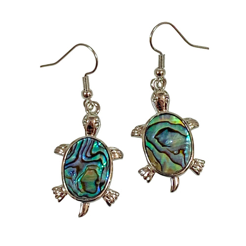 Turtle Earrings decorated with Abalone - 925 Silver - Gifti | Gifts they will love