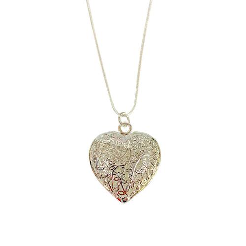 Beautiful Heart Pendant and Necklace - 925 Silver - Gifti | Gifts they will love
