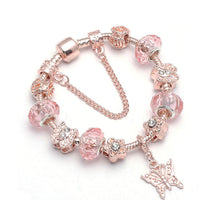 Load image into Gallery viewer, Butterfly Charm Bracelet Rose Gold - 11 Charms - Gifti | Gifts they will love