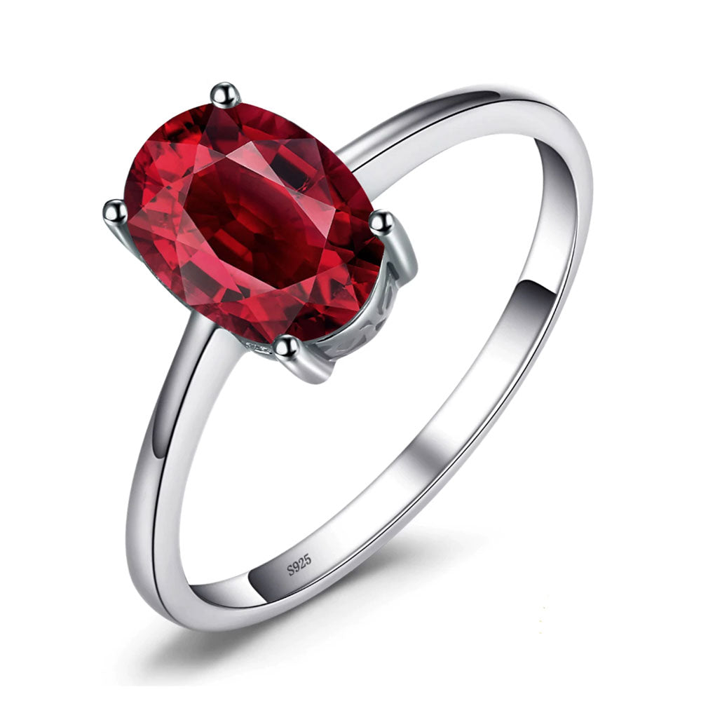 Red Garnet Oval Cut Ring - Gifti | Gifts they will love