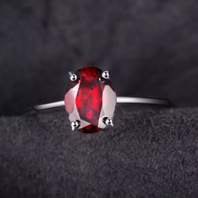 Load image into Gallery viewer, Red Garnet Oval Cut Ring - Gifti | Gifts they will love