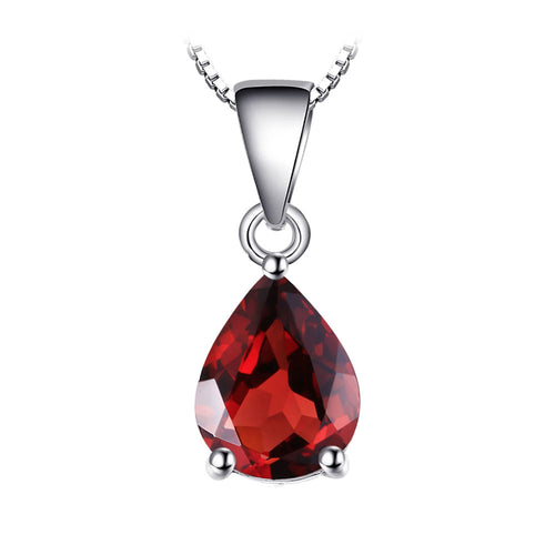 Red Garnet Pear Cut Pendant & Necklace - Gifti | Gifts they will love