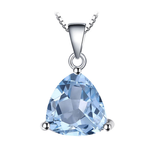 Blue Topaz Triangle Cut Pendant & Necklace - Gifti | Gifts they will love