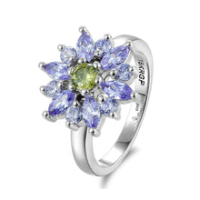 Load image into Gallery viewer, Amethyst & Peridot Fashion Flower Ring - Gifti | Gifts they will love