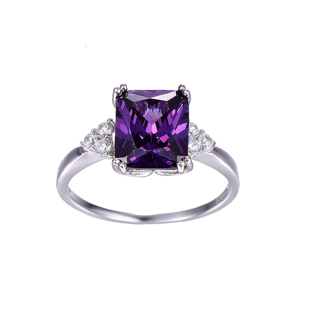 Amethyst Rectangle Cut Ring - Gifti | Gifts they will love