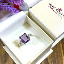Load image into Gallery viewer, Amethyst Rectangle Cut Ring - Gifti | Gifts they will love
