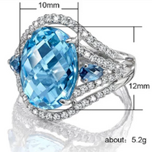 Load image into Gallery viewer, Topaz LC Oval Cut Dress Ring with Cubic Zirconia - Gifti | Gifts they will love