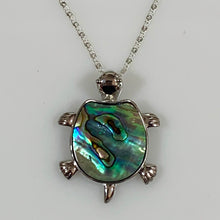 Load image into Gallery viewer, Turtle Pendant & Necklace decorated with Abalone - 925 Silver - Gifti | Gifts they will love