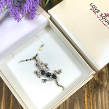 Load image into Gallery viewer, Gecko Pendant Necklace decorated with Cats Eye Stones - Gifti | Gifts they will love
