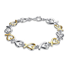 Load image into Gallery viewer, Gold and Silver Heart Bracelet - Gifti | Gifts they will love