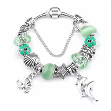 Load image into Gallery viewer, Green Ocean Charm Love Bracelet Silver - 13 Charms - Gifti | Gifts they will love