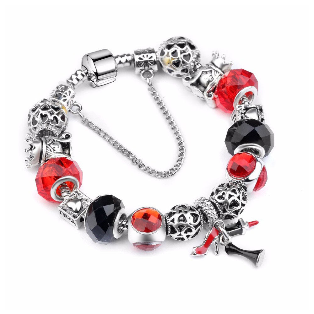 Red Glam Charms Love Bracelet - 15 Charms - Gifti | Gifts they will love