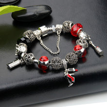 Load image into Gallery viewer, Red Glam Charms Love Bracelet - 15 Charms - Gifti | Gifts they will love