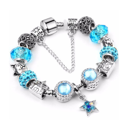 Blue Star Charms Love Bracelet - 13 Charms - Gifti | Gifts they will love