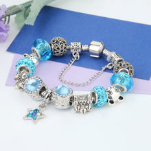 Load image into Gallery viewer, Blue Star Charms Love Bracelet - 13 Charms - Gifti | Gifts they will love