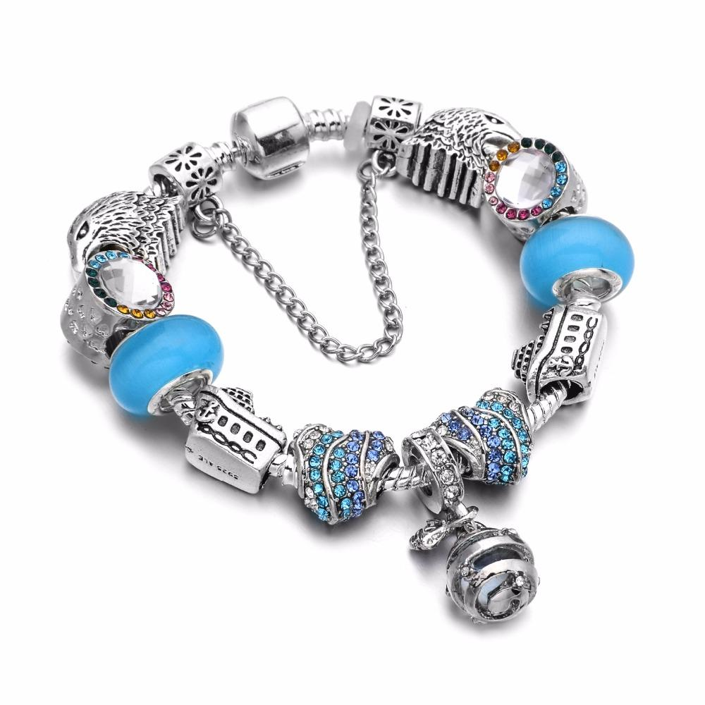 Love Adventure Charm Bracelet Light Blue - 11 Charms - Gifti | Gifts they will love