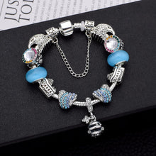 Load image into Gallery viewer, Love Adventure Charm Bracelet Light Blue - 11 Charms - Gifti | Gifts they will love