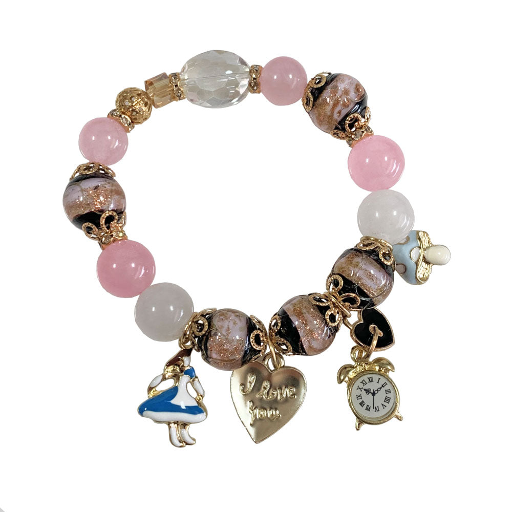 Love Alice in Wonderland Charm Bracelet - Great Gift Idea for Young Girls - Gifti | Gifts they will love