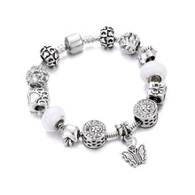Load image into Gallery viewer, Love Butterfly Charm Bracelet Silver - 13 Charms - Gifti | Gifts they will love