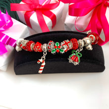 Load image into Gallery viewer, Love Christmas Candy Cane Charm Bracelet - 13 Charms - Gifti | Gifts they will love