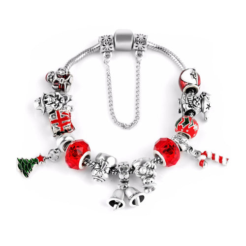 Love Christmas Jingle Bells Charm Bracelet - 13 Charms - Gifti | Gifts they will love