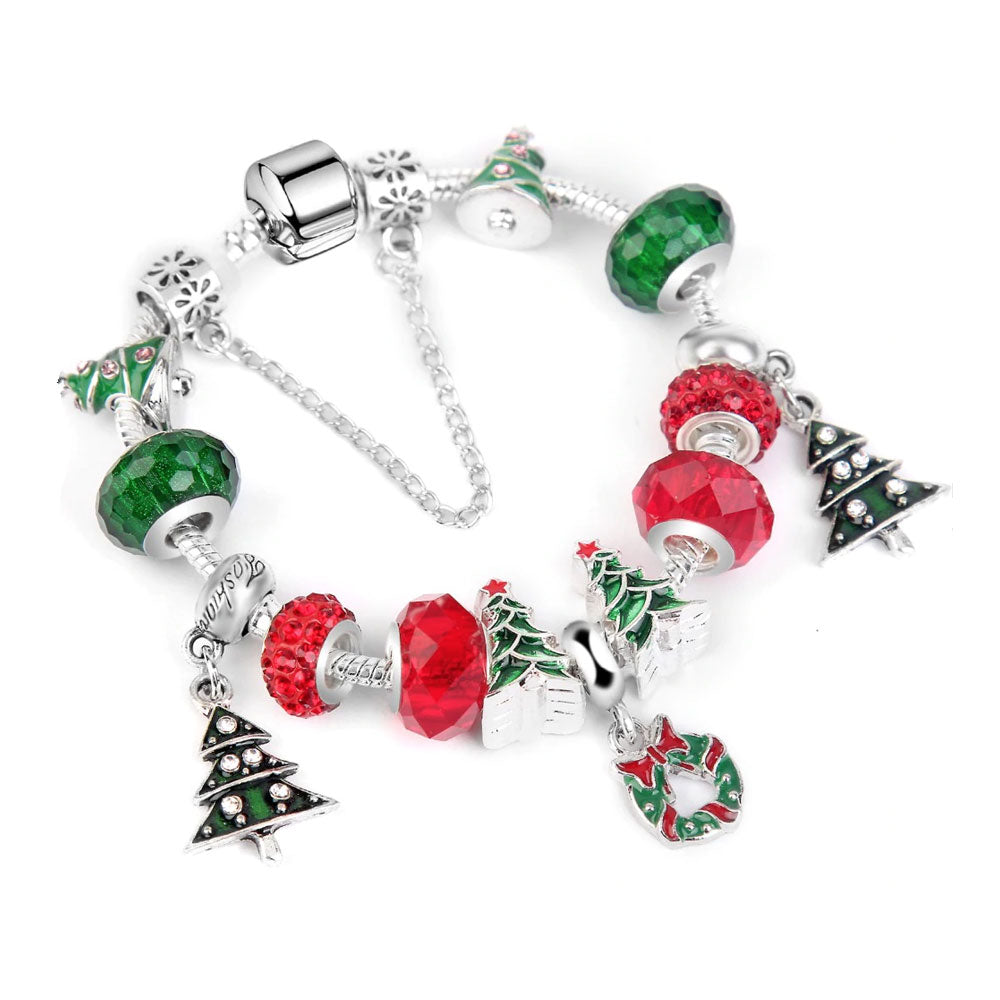 Love Christmas Xmas Tree Charm Bracelet - 13 Charms - Gifti | Gifts they will love