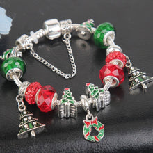 Load image into Gallery viewer, Love Christmas Xmas Tree Charm Bracelet - 13 Charms - Gifti | Gifts they will love
