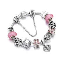Load image into Gallery viewer, Love Mom Charm Bracelet Pink - 11 Charms - Gifti | Gifts they will love