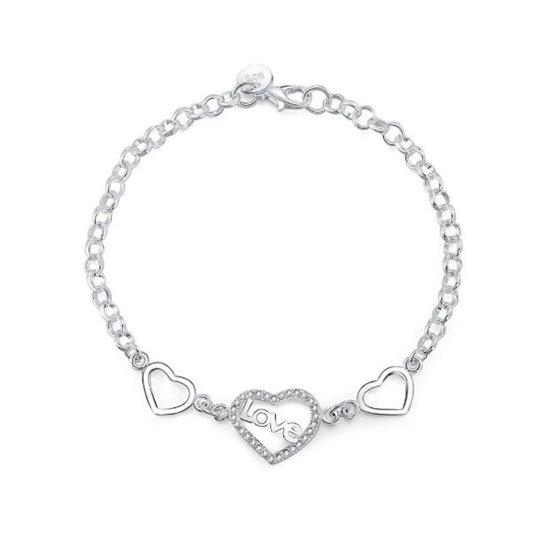 Love and Heart Bracelet - 925 Silver - Gifti | Gifts they will love