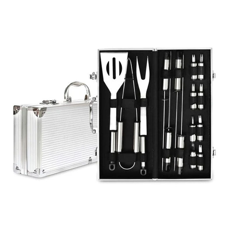 Men's Republic 16 Piece BBQ Set in Aluminium Case - Gifti | Gifts they will love