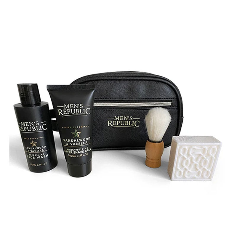 Men's Grooming Kit - 4pc Cleansing in Toiletry Bag - Gifti | Gifts they will love