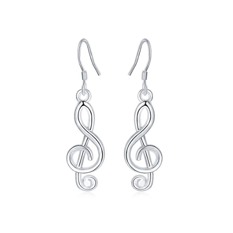 Treble Clef Musical Earrings - 925 Silver - Gifti | Gifts they will love