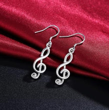 Load image into Gallery viewer, Treble Clef Musical Earrings - 925 Silver - Gifti | Gifts they will love