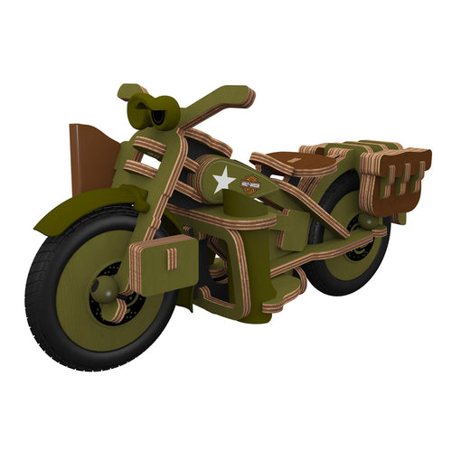 Harley Davidson Vintage Armed Forces Motorbike - Model Kit - Gifti | Gifts they will love
