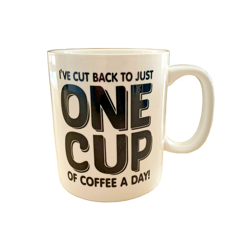 I've cut back to just one cup of coffee a day! - Jumbo Mug - Gifti | Gifts they will love