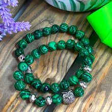 Load image into Gallery viewer, Owl Yoga Bracelet Stack - Malachite - Gifti | Gifts they will love