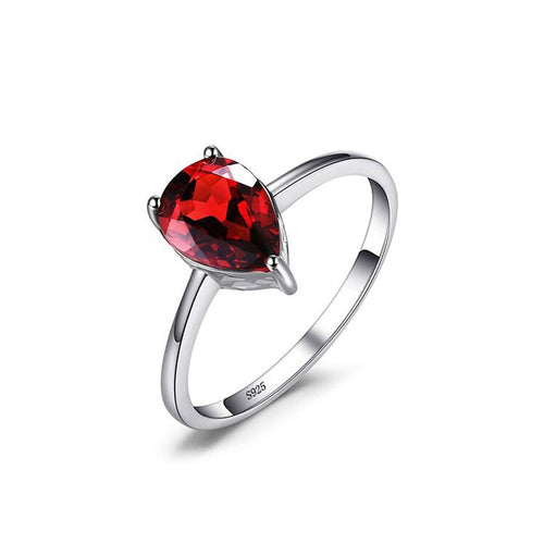 Red Garnet Pear Cut Ring - Gifti | Gifts they will love