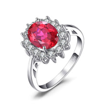 Load image into Gallery viewer, Ruby Princess Diana Inspired Oval Cut Ring - Gifti | Gifts they will love